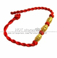BC0015 200pcs/lot golden color, wholesale Hand-woven,with good luck elongated beads accessory,bracelet, fashion jewelry