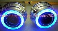 High Quality HID BI-Xenon projector lens light+Angle eyes kit+Devil eyes kit + Special relay harness+Slim ballast kit+Glue Etc