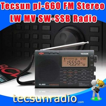 Free Shipping Retail-Wholesale Tecsun pl-660 FM radhio Stereo LW MV SW-SSB AIR PLL SYNTHESIZED PL660 Radio