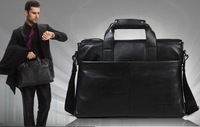 Free shipping,genuine cow leather.man briefcase,fashion handbag,business case,bag