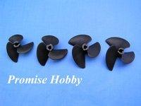 3 blade fiber reinforced nylon propeller prop set diameter 47mm, 52mm, 55mm, 57mm