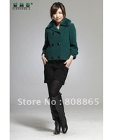 WT0014 hot selling new style High-grade authentic woolen winter coat Short jacket winter wool collar fashion women&amp;#39;s coat