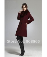 WT0015 hot selling new style High-grade authentic woolen winter coat High-end luxury  winter wool collar fashion women&amp;#39;s coat