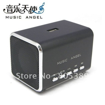 Wholesale mini speaker,music angel speaker MD05B,Support TF,u-disk and FM.20pcs/lot DHL Free shipping