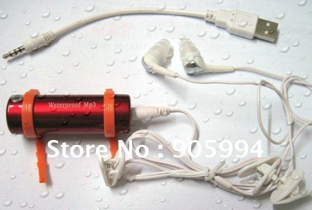 2GB Water proof sport MP3/WMA Player SWIM Waterproof MP3,Free Shipping(China (Mainland))