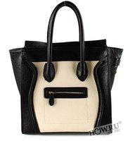 HOWRU optimal ha genuine leather the wind restoring ancient  Europe and drained smiling face women bag /shoulder bag /brand bag