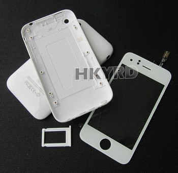 White Back housing Cover Case+Touch screen digitizer for iphone 3G 8GB/16GB C1013+B0011