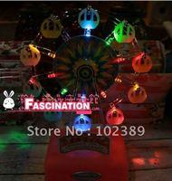 Video Japanese Musical Land colorful LED light rotating Ferris wheel music box music box four-color models