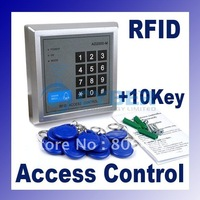 RFID Proximity Entry Lock Door Access Control System  AD2000-M with 10 Keyfobs + Free Shipping