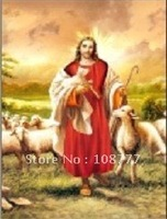 Free shipping/HD 3D stereoscopic paintings /Don't take Picture frame /size:25*35/PET-high definition 3D picture-jesus4043