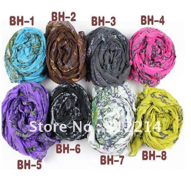 SCARVES2012 fashion cotton head knitting scarves for women  Cotton Head Scarves Women