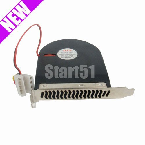 Wholesale best price 10pcs/lot New System Blower CPU Case PCI Slot Fan Cooler For PC(China (Mainland))