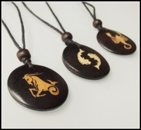 AL-105 ethnic special cool OX BONE zodiac symbol 12 signs necklace