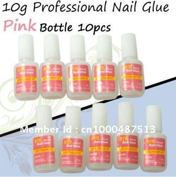 Freeshipping Nail Tool 10g BYB Bond Nail Glue False French Tips Nail Art /nail art glue Wholesale lowest price