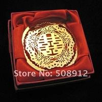 Free shipping 40sets/lot red holl out xi wedding favors wedding items wedding bookmark WG03 whole/retail