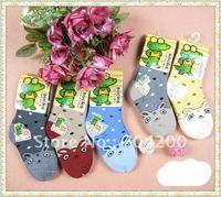 5 Styles 30 pairs/lot Cartoon Animal prints Kids Socks/infant cotton socks