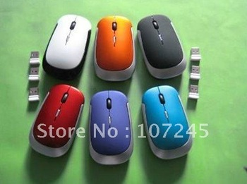 Wholesale New Design thin wireless mouse, computer mouse, 1lot=10pcs,Free shipping