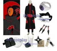Apparel Naruto Akatsuki Tobi (obito) Cosplay Costume With All Accessories Set Free Shipping
