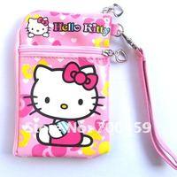 60pcs Hello Kitty Multi-purpose purse cell phone pouches purse P3/P4 bag Free Shipping