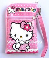20pcs Hello Kitty Multi-purpose purse cell phone pouches purse P3/P4 bag Free Shipping
