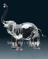 crystal elephant crystal grafts wholesale crystal animal Production according to your own LOGO