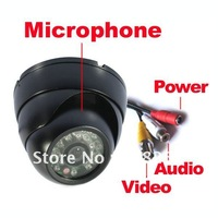 Security CCTV Color Dome CMOS Audio Camera Wide angle 3.6mm Lens