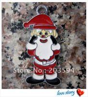 37*18mm Santa Claus Charms Pendants enamel charms key charms