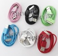LOT 6 Color USB Data Cable for Iphone 4G 3G 3GS fOR  Ipod E2001