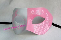 Halloween Masquerade Paper Pulp Colored Drawing Masks Venetian Dance party Mask Free Shipping. 50 pcs