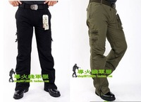 Free shipping 2011 new outdoor leisure 100% cotton canvas many pocket lovers pants mountaineering pants,two color can be chosen