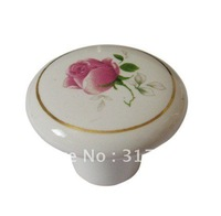 Classic cabinet wardrobe drawer ceramic knobs handles 50pc per lot  Wholesale & retail Shipping discount