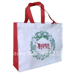 Free shipping Customized Logo Printing eco non-woven Shopping bags holiday bags(China (Mainland))