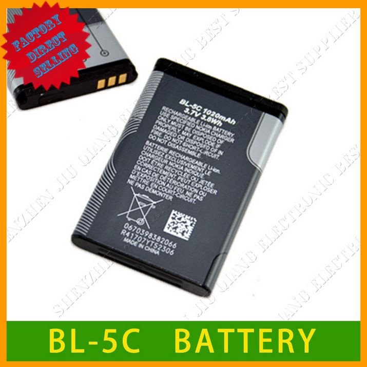 Wholesales BL-5C Battery For Nokia 6600 6630 6670 6680 6681 6682 6820 6822 7600 7610 E50 E60 N70 N71 N72 N91 50 pcs/lot(China (Mainland))