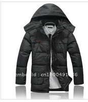 Men 2011 new winter clothing quality goods the single leisure thickening in male money even cap long money down
