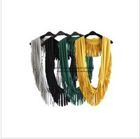 2011 autumn outfit new temperament joker mo dyer tassel scarf/collar four color
