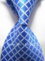 Blue white Stripe Silk Classic Woven Man Tie Necktie without box free shipping