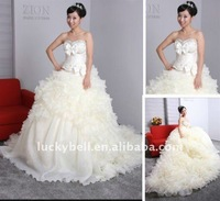 2012 Princess Hot sale Ball Gown Ruffle Wedding dress