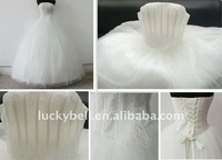 2012 Hot sale Ball Gown Beading Feather Wedding dresses
