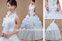 2012 Hot sale Ball Gown Ruffle Halter Wedding dress