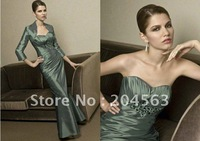 Платье для матери невесты best selling Elegant Beaded Pick-Up Mother Of the Bride Dress jacket /retail