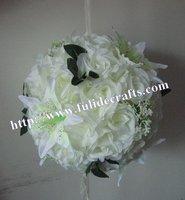 30cm foam center  wedding artificial kissing flower ball