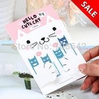Free Shipping 40pcs/lot Fancy New Cute Cat Metal Book Clips, Cartoon Color Paper Clips, Paper/ Bag/ Memo/Notepaper Clip