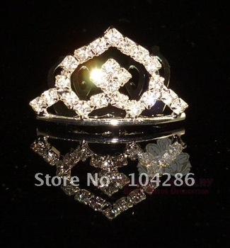 Childrens Hair Jewelry Crystal Kids Tiara Rhinestone Baby Crown 60pcs/lot assorted styles free shipping