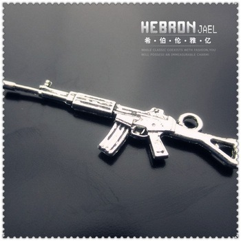 Free shipping(250pieces)Silver Jewelry Gun M4 Pendant(3219#)wholesale and retail Fashion Jewelry Accessory/Pendant Accessory