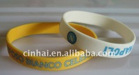 2colors logo printing Silicone Bangle in high quality