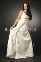 Hot sell beautifull chiffon pregnant wedding dress/bridal dress