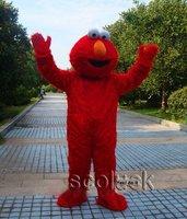 Shining Sesame Street Red Plush Toy Costume of Street Elmo Cartoon Mascot Adult size