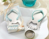 Free shipping Asia ! 30sets/lot 2011 newest Pop the Top Flip-Flop Bottle Opener Favors KP101