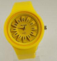 Free Shipping (50pcs) New Jelly watch of Japanese Movement