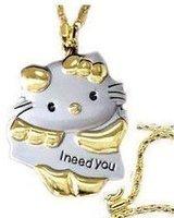 Hello Kitty Necklace watch pocket pendant(50pcs/lot)